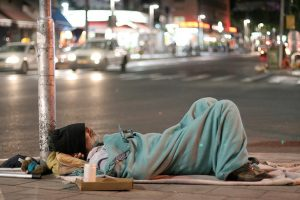 Street homeless people learn to 'perform' to obtain life-sustaining resources